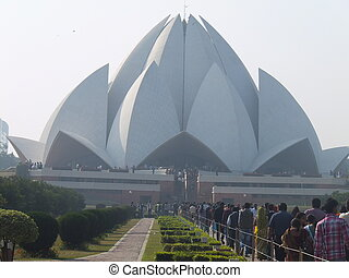 Lotus Temple in Delhi, India - Lotus Temple Bahai House of...