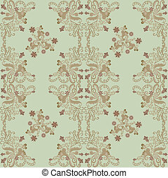 pattern with carved flowers