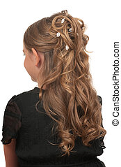 Hairdo for little girls for weddings or parties