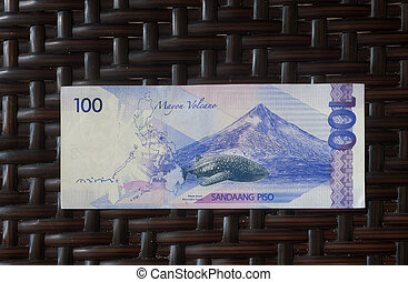 philippine banknote - back side of a new generation hundred...