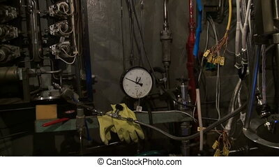 The pressure gauge in the physical laboratory