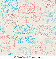 Floral seamless background in retro