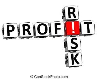 3D Credit Risk Crossword on white background