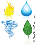 Four elements of nature - Four vector elements of nature...