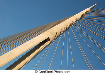 Pylon bridge over Ada, Belgrade