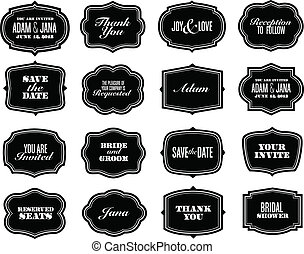 Vector Ornate Frame Set. Easy to edit. Perfect for...