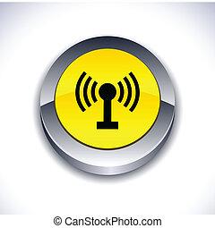 Radio 3d button.