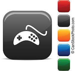 Gamepad icons - Gamepad icon set Vector illustration