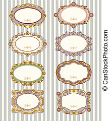 Set of vintage labels - Set of 8 different vintage vector...