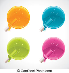 Vector colorful lollipops - Set of detailed glossy lollipops...