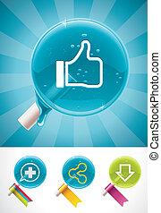Vector social media lollipops