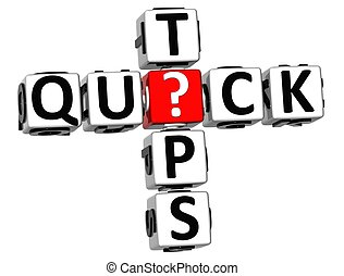 3D Quick Tips Crossword