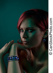 Beauty portrait with bangle
