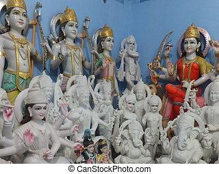hindú, dios, Estatuas
