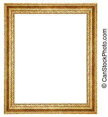antique fram? - gold antique frame isolated on white...