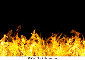 seamless fire flames border - fire flames border in seamless...