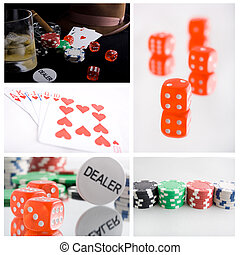 poker or gambling collage from several image