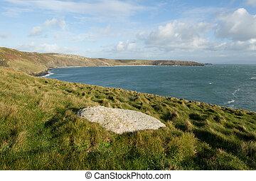 Porth Ceiriad Bay. - Coastal vista of Porth Ceiriad bay near...
