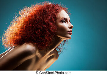 Dashing and confident woman - Beauty portrait of dashing and...