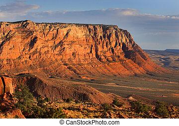 Vermilion cliffs - Scenic Vermilion cliffs landscape at...