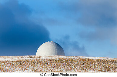 Meteorological station on a hill (Commander Islands)