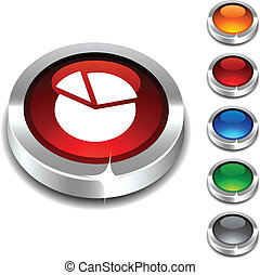 Diagram 3d button. - Diagram 3d button set. Vector...