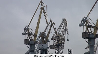 Cranes in the port of