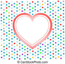 pair of valentine heart on abstract