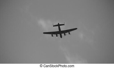Lancaster - Avro Lancaster, a British bomber from World War...