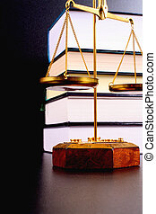 Scales of justice - Scale of justice and books, justice...