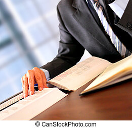 Lawyer - Businessman working