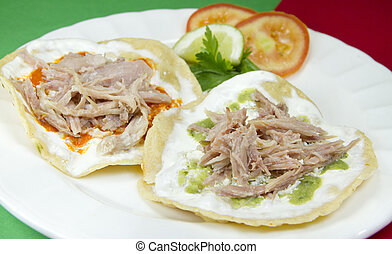 Mexican Tostadas - Mexican Pork Tostadas. Traditional...