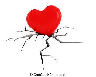 cassé, Amour