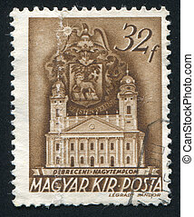 Reformed Church - HUNGARY - CIRCA 1938: stamp printed by...