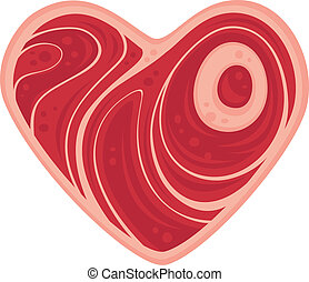 Meat Heart - For all of the meat lovers out there. Vector...