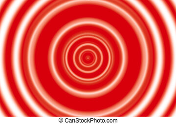 red rings background - red and white rings as abstract...