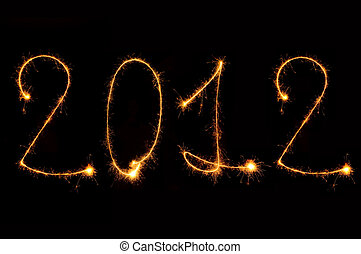 2012 - new year stylish sparkle color design