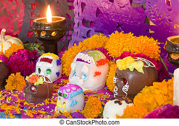 Mexican Day Of The Dead Altar - Mexican Day of the dead...