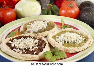 Mexican Sopes Dish Close Up