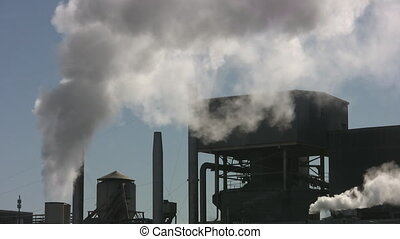 Factory steam - Steam from factory chimneys