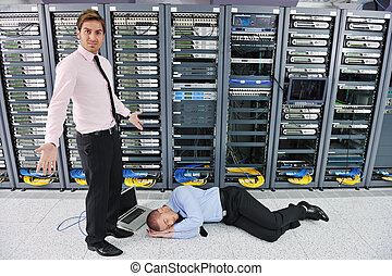 system fail situation in network server room - it business...