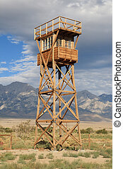 manzanar guard tower - Manzanar war relocation center guard...