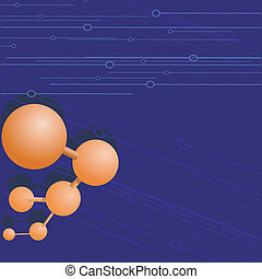 Vector  background with a molecule