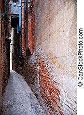 Narrow alley in Venice