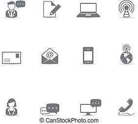 Single Color Icons - Communication - Communication icon...