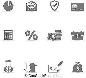 Single Color Icons - More Finance - Finance icon set. Font...