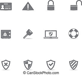 Single Color Icons - Security - Security icon set in single...