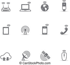 Single Color Icons - Wireless World - Wireless world icon...