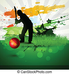 cricket vector background - abstract cricket background game...