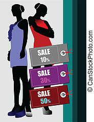 Few sale images Vector illustration for designers Shopping...